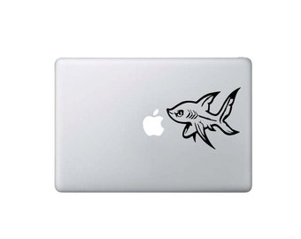 Baby Shark Eating Apple - Macbook Decal - Home/Laptop/Computer/Phone/Car Bumper Sticker Decal