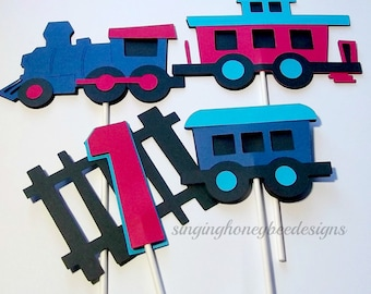 Choo Train Cake Topper Birthday Party Table