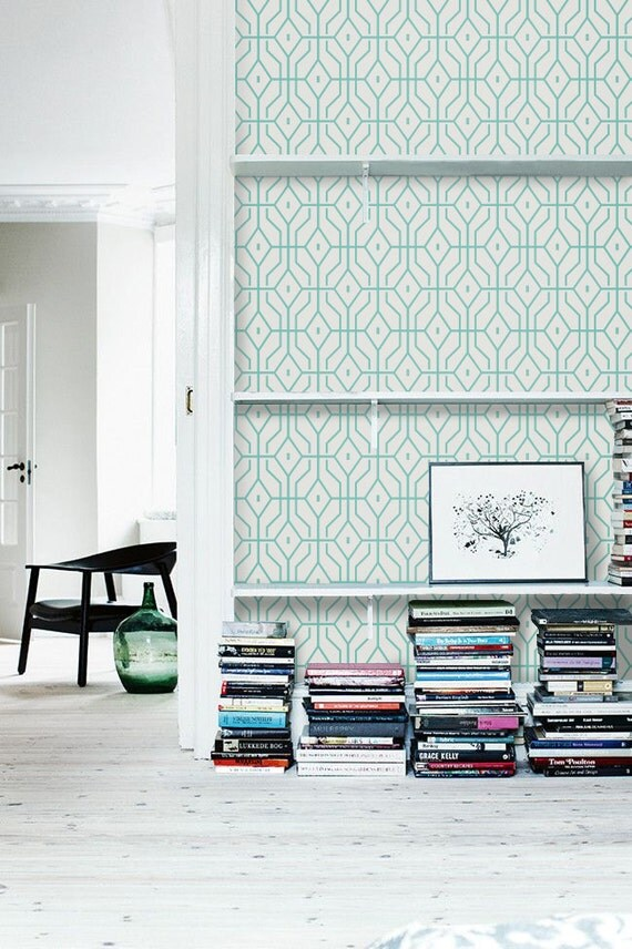 Self Adhesive Geometric Vinyl Temporary Removable Wallpaper
