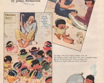 "Original Good Housekeeping cartoon ""Canyon Kiddies"" by James Swinnerton 1930s, 8x11 in. - Kids 684"