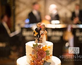 Custom Fall Wedding Cake Topper