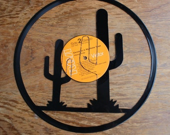 Southwestern Sunset Vinyl Record Cutout
