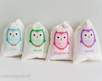 Owl Favor Bag, Owl Party Favor Bags, Owl Personalized Favor Bags, Owl Favor Bags, Owl Party Favors, Owl Birthday Party Favor Bags, Owl Party