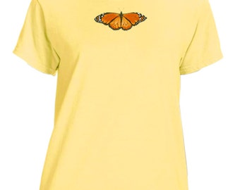 Ladies garment dyed Monarch Butterfly t-shirt