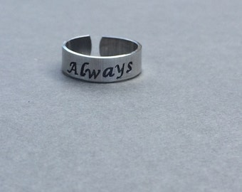 Always Ring Hand Stamped Aluminum Ring