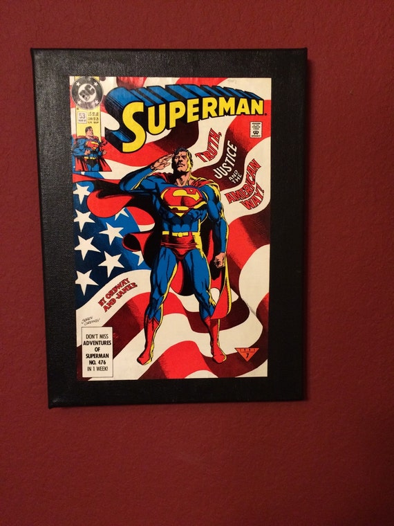 Book Cover Art Etsy ~ Items similar to superman comic book cover art on etsy