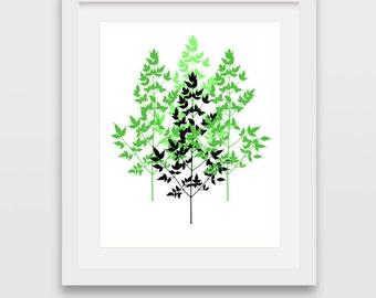 Green Print, Green Art, Downlodable Print, Bamboo Art, Green Wall Decor, Modern Art, Minimalist Art, Downloadable Art, Printable Art