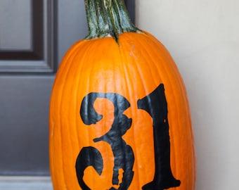 31 Halloween Fall Autumn Decor Pumpkin Decal Vinyl Sticker