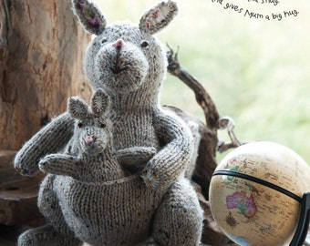 Kath the Kangaroo Toy Knitting Pattern Download (803761)