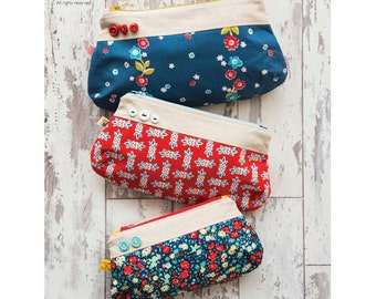 Button Make Up Pouch Sewing Pattern Download 803950