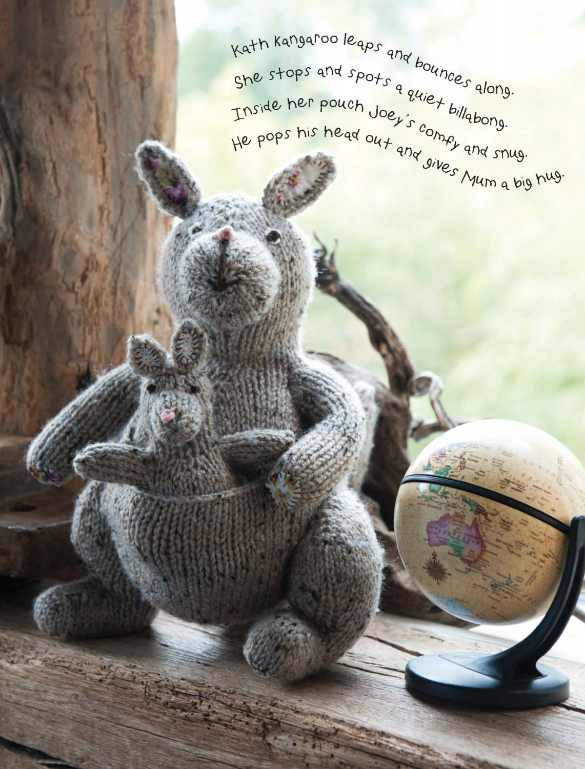 Kangaroo Pouch Knitting Pattern : Kath the Kangaroo Toy Knitting Pattern Download 803761