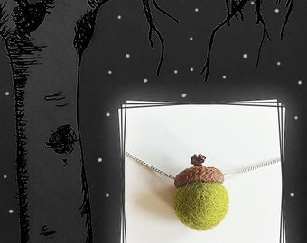 Awesome Autumn Nuts Necklace