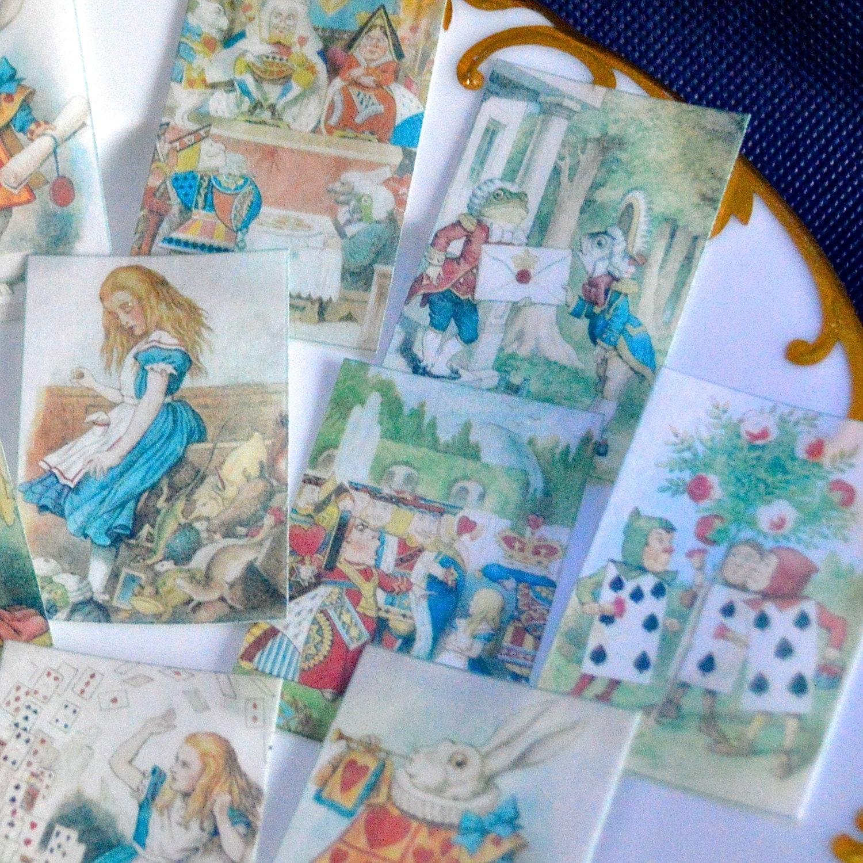 Edible Cake Decorations Alice In Wonderland : Edible Queen of Hearts Set 2 Alice in Wonderland Wafer Paper x