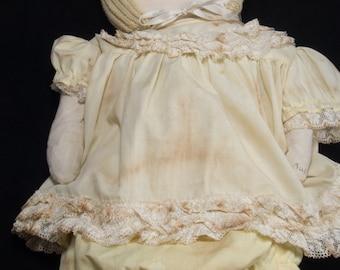 Handmade Primitive Girl Rag Doll Lucille