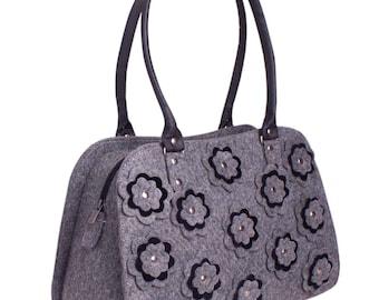 Beauty Tote Bag in Grey, Diaper bag, Women Tote Bag, Bags and purses, Grey Bag, Shoulder Bag, Messenger Bag
