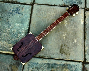 Electric ''f-cut'' Cigar Box Guitar