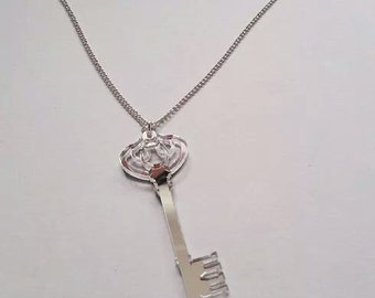 Alice In Wonderland Style Mirror Key Necklace