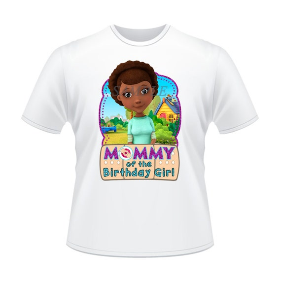 Doc mcstuffins iron on transfer mom of the birthday by for Doc mcstuffins birthday girl shirt