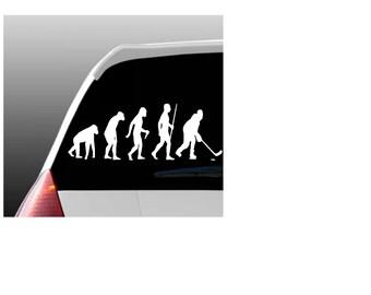 Evolution of an Ice Hockey Player Car Window Decal