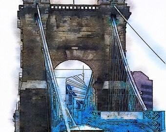 Cincinnati Roebling Suspension Bridge II: Photographic Art of the Bridge in Cincinnati, Ohio