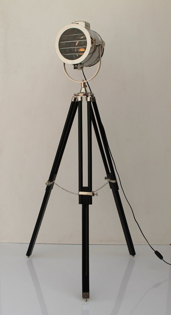 Shutter Tripod Nautical Marin Floor Lamp - for Office, Pub, Restaurant, Hotel, Living Room, Bedroom, Hallway - Industrial Floor Lamp