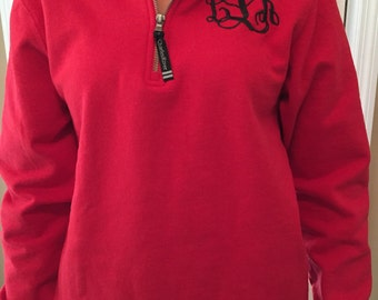 Monogram quarter zip | Etsy