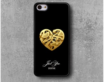 """IPhone 5c Case Heart Clock Love Valentin """" Just You """" + Free Worldwide Shipping"""