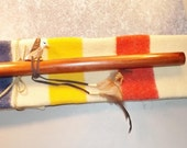 """Native American Inspired, Flute Bag, Pipe Bag, Drum Stick Bag,  29"""" long Pouch - Cord Tie,  Wool Material, Old Trader Blanket"""