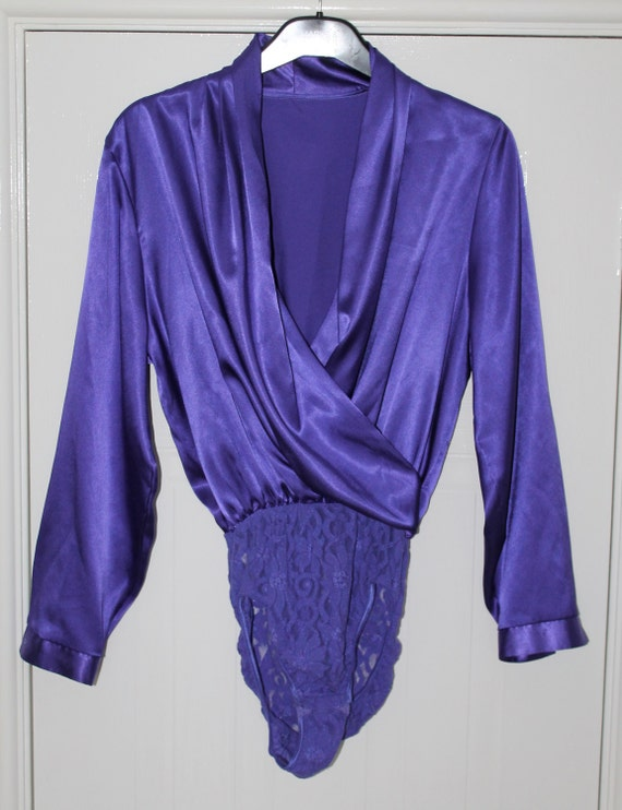 shop my stuff: 1980s purple evening blouse