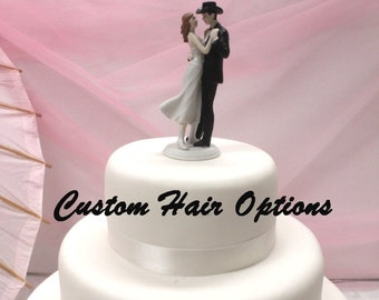 Personalized Wedding Cake Topper - Western Bride and Groom - A Sweet Western Embrace - Cake Topper - Country Wedding - Cowboy - Cowgirl