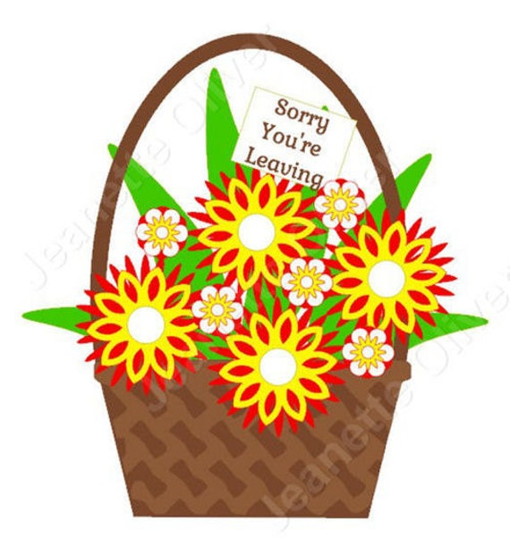 Flower cutting baskets : Items similar to flower basket svg digital cutting file on