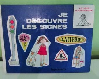 Je découvre les signes \ Je découvre les animaux by Les presses d'or - Vintage French Children Book