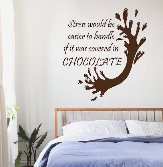 Chocolate wall decals quotes chocolate splash kitchen cafe bar for Candy wall mural