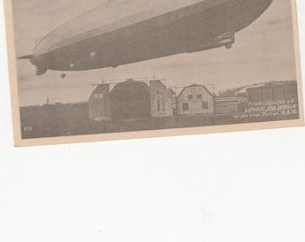 Graf Zeppelin Luftschiff 1928 German Airship/Dirigible Real Photographic RPPC