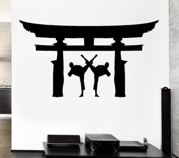 wall decal martial arts karate japan fighting jiu jitsu vinyl