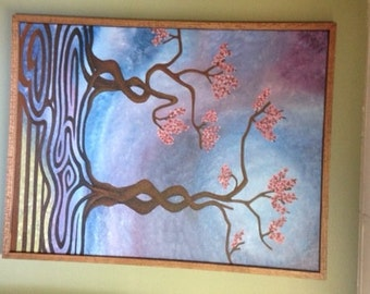 Blossoms of Tranquility - Original Acrylic Painting on Canvas