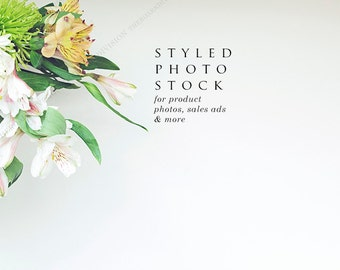 Yellow & Green Daisy Floral Styled Stock Photography, Product Mockup, Styled Background, Product Photography, Digital Background, Desktop
