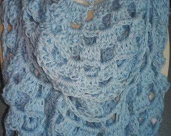 Light blue infinity scarf.  Ice blue infinity scarf. A Great Mother's Day gift!!!!