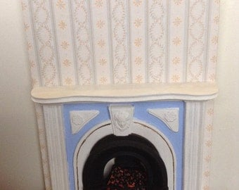 Dolls house chimney breast and fire place