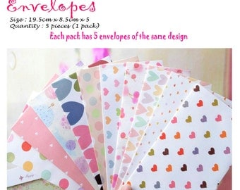 Colourful and Cute Envelopes Pack of 5