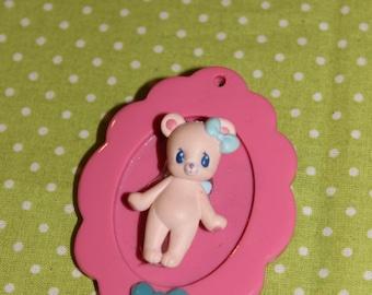 Cameo brooch kawaii Teddy bear