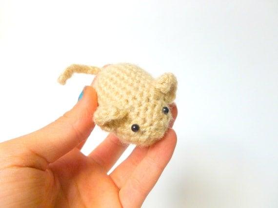 Amigurumi Mouse Catnip Cat Toy Crochet Animal Catnip Mouse