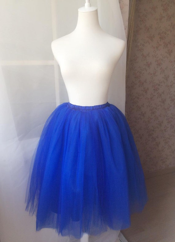 tutu skirt tea length tutu skirt cobalt by