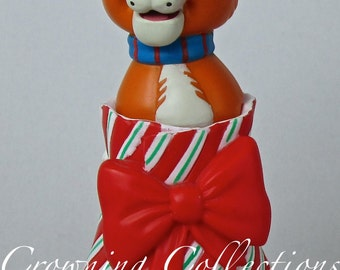 Disney Grolier Thomas O'Malley Ornament The Aristocats Christmas Magic DCO O'Malley Vintage Cat Bow