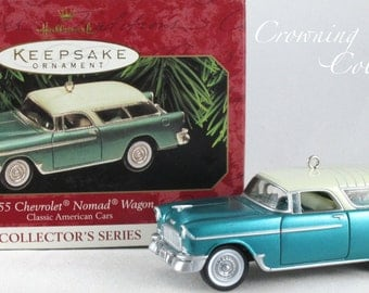 Hallmark 1955 Chevrolet Nomad Wagon Ornament Classic American Cars 9th in Series Keepsake Chevy MIB