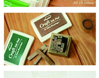 Craft  Colorful Ink Pad - Rubber Stamp Ink, Stamp Pads, Water Resistant, Inkpad, Craft, Funnyman, I001