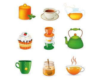 Clipart Of Honey Cake : Popular items for teapot clipart on Etsy