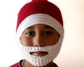 Santa Hat with Beard Crochet Pattern