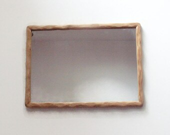 "Wooden Wall Mirror - Decorative Wall Mirror - 12"" x 16"" Wood Mirror - Home Decor - Reclaimed Wood Mirror"
