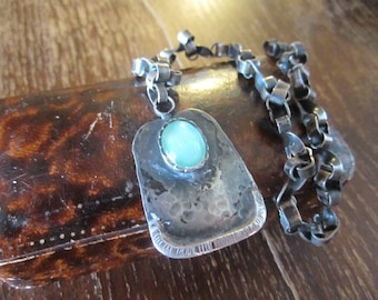 925 silver handmade necklace and pendant - torqiouse stone